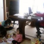 仕事場だけど、子どもたちも一緒に過ごせる環境